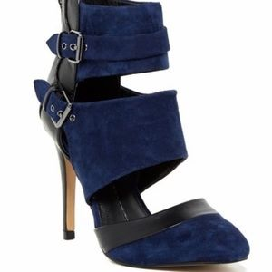 NEW Dolce Vita Blue & Black Suede pumps with box